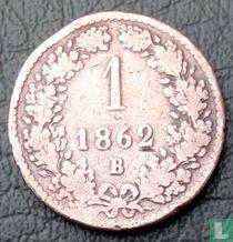 Austria 1 kreuzer 1862 (B)