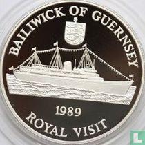 """Guernsey 2 pounds 1989 (PROOF) """"Royal Visit"""""""
