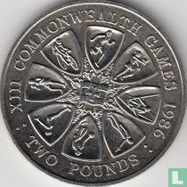 "Guernsey 2 pounds 1986 (koper-nikkel) ""Commonwealth Games in Edinburgh"""