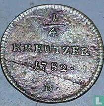 Austria ¼ kreutzer 1782 (B)