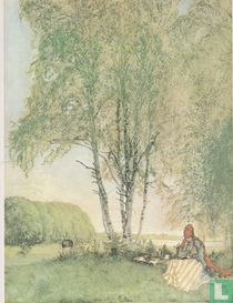 Lezende vrouw in gras 1902