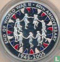 """Ascension 50 pence 2005 (PROOF) """"60th anniversary End of World War II"""""""