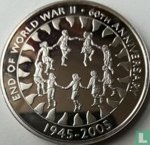 """Ascension 50 pence 2005 """"60th anniversary End of World War II"""""""
