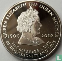 """Ascension 50 pence 2002 """"Death of Queen Mother"""""""