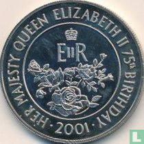 "Ascension 50 pence 2001 ""75th Birthday of Queen Elizabeth II"""