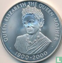 """Ascension 50 pence 2000 """"100th Birthday of Queen Mother"""""""