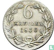 Baden 6 kreuzer 1836