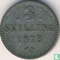 Norwegen 3 Skilling 1873