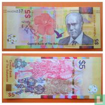 Bahamas 5 Dollars 2020