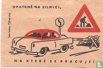 Opatrne na silnici, na ktere se pracuje