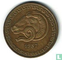 "Algerije 20 centimes 1987 ""FAO - Increase of Animal Resources"""