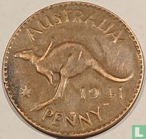 Australië 1 penny 1941 zonder K.G.