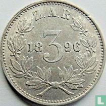 Afrique du Sud 3 pence 1896