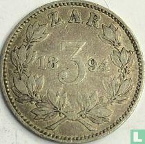 Afrique du Sud 3 pence 1894