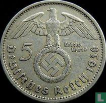 Duitse Rijk 5 reichsmark 1936 (met hakenkruis - A)