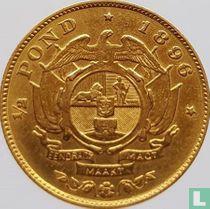 Afrique du Sud ½ pond 1896