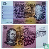 Australia 5 Dollars 1990