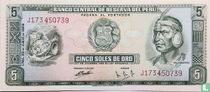 Peru , 5 soles de oro 1969
