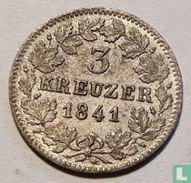 Baden 3 kreuzer 1841