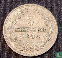Baden 3 kreuzer 1833