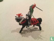 Knight on horseback in attack