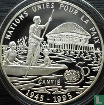 "Benin 6000 francs 1995 (PROOF) ""50th anniversary of the United Nations"""