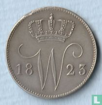 Netherlands 25 cent 1823/2