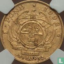 Afrique du Sud 1 pond 1892 (un seul bras)