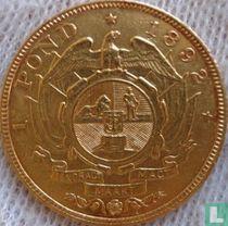Afrique du Sud 1 pond 1892 (double bras)
