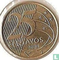 Brazilië 25 centavos 2004