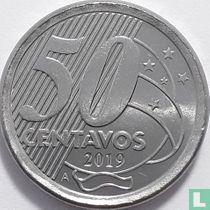 Brazilië 50 centavos 2019 (met A)