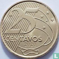 Brazilië 25 centavos 2020