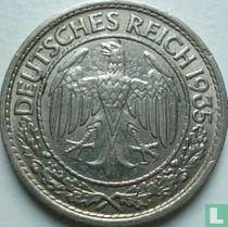Duitse Rijk 50 reichspfennig 1935 (nikkel - A)