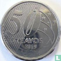 Brazilië 50 centavos 2019 (zonder A)