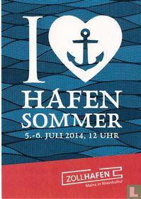 """58750 - Zollhafen Mainz """"I .. Hafen Sommer"""""""