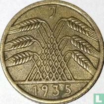Duitse Rijk 5 reichspfennig 1935 (J)