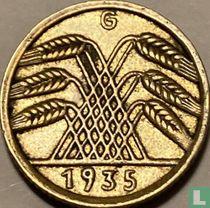 Duitse Rijk 5 reichspfennig 1935 (G)