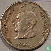 El Salvador 25 centavos 1986