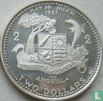 "Anguilla 2 dollars 1969 (PROOF) ""National flag"""