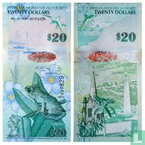 Bermuda_20 Dollars 2009