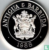 "Antigua and Barbuda 100 dollars 1988 (PROOF) ""Cattle egret"""