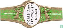 C.C.M.B. Antw. 1947 - 25 j. - 1972 Autoblok - Maldegem - R. Janssens & Zn