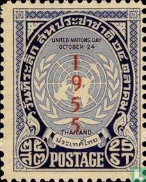 Verenigde Natiesdag met opdruk