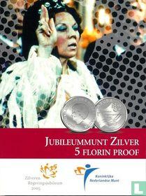 """Aruba 5 florin 2005 (PROOF - folder) """"25 years Reign of Queen Beatrix"""""""