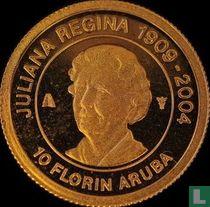"""Aruba 10 florin 2005 (PROOF) """"Death of Queen Juliana"""""""