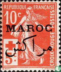 Semeuse, with imprint Maroc