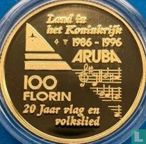 "Aruba 100 florin 1996 (PROOF) ""20th anniversary Flag and anthem and 10th anniversary Status Aparte"""