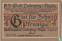 Lindenberg im Allgau 10 Pfennig 1917