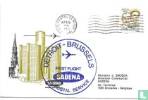 First Flight SABENA Detroit-Brussel