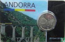 Andorra 20 cent 2014 (coincard)